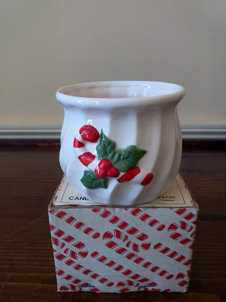 """Candy Cane"" Container Candle - FayZen's Kreations"