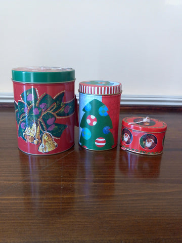 Christmas Tin Can 3pc Set - FayZen's Kreations