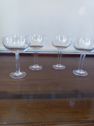Rosenthal Studio-Line Crystal 4 Pc Champagne Glass Set