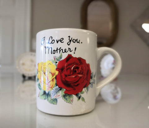 """I Love You Mother!"" Porcelain Coffee Mug - FayZen's Kreations"