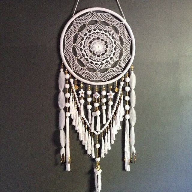 White Lullaby - White Dream Catcher