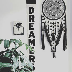Night Sky - Black Dream Catcher