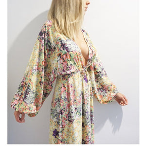 Floral Dreams - Floral Maxi Kaftan Dress