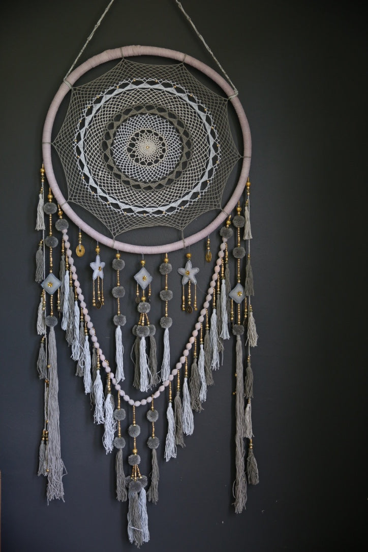Dusty- Mixed Grey Dreamcatcher