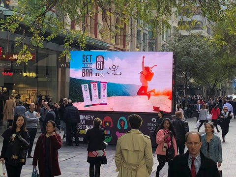 Sydney Film Festival TV - Pitt Street Mall