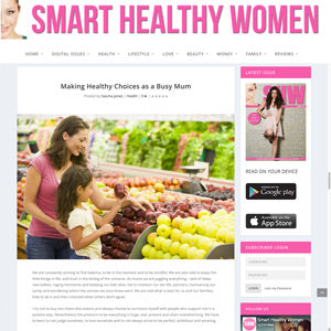 Smart Healthy Women article by Sascha Jones