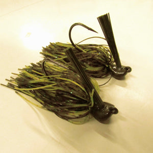 "Pack of 2 - Tungsten 1 OZ Wire Tied Flipping Jig ""Candy Craw"""