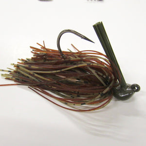 "Pack of 2 - Tungsten 3/4 OZ Wire Tied Flipping Jig ""Green Pumpkin Brown"""