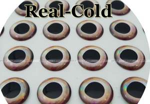 9 mm Nature Series (Real Cold) 3D Lure Eyes (70 Pack)