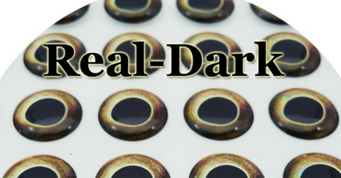12 mm Nature Series (Real Dark) 3D Lure Eyes (20 Pack)