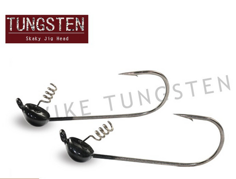 Tungsten BLACK Shaky Head Jighead - 3/16 oz (3 Pack)
