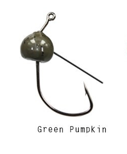 Tungsten (Green Pumpkin) Weedless Wacky Head Jighead - 1/8 oz (5 Pack)