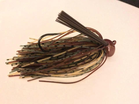 Pack of 2 - Tungsten 1 oz Wire Tied Football Jig - Camo Craw