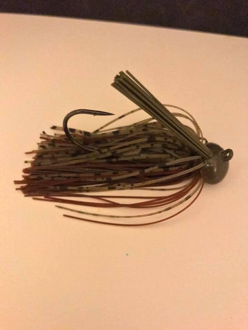 Pack of 2 - Tungsten 3/4 oz Football Jig - Dark Pumpkin Brown (2 Pack)