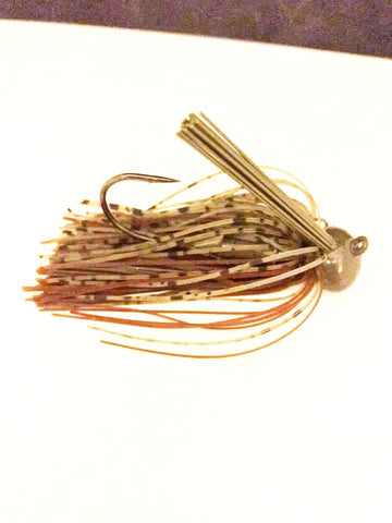 Pack of 2 - Tungsten 1 oz Football Jig - Dark Pumpkin Brown (2 Pack)