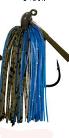 "Pack of 2 - Tungsten 1 OZ Wire Tied Flipping Jig ""Okeechobee Craw"""