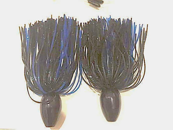 Pack of 2 - Tungsten 1 1/2 OZ Wire Tied Skirted Punch Rig in in