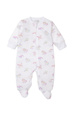 Kissy Kissy Footie with Zipper - Unicorn Utopia
