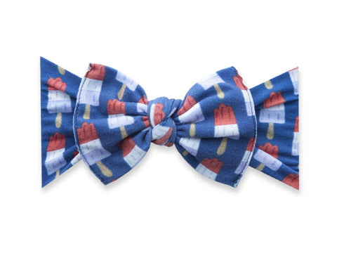 Baby Bling Printed Knot in Patriotic Popsicle
