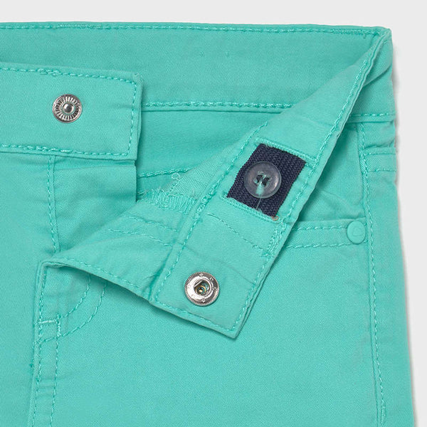 Mayoral Pocket Twill Shorts in Aqua