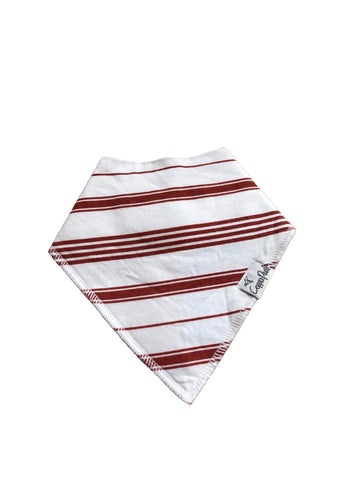 Copper Pearl Bandana Bib-rust stripe