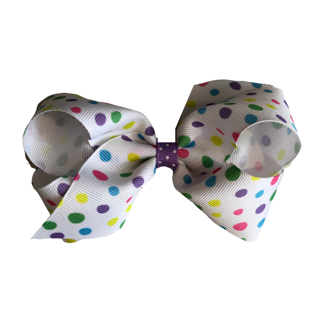 Wee Ones Medium Bow-Easter Dot