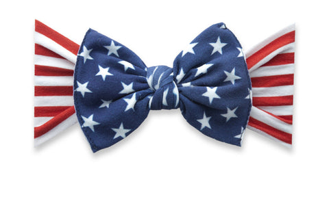 Baby Bling Printed Knot in Flag