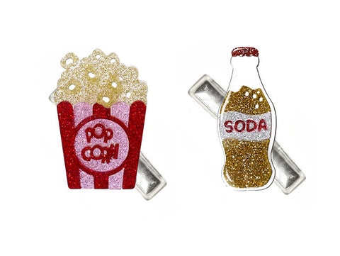 Alligator Clips 2 pack popcorn n soda