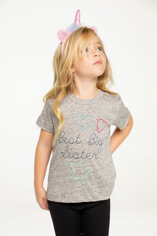 Chaser Big Sis Linen Short Sleeve Tee