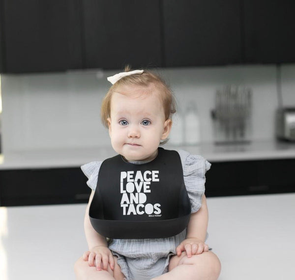 Bella Tunno Wonder Bib-Peace Love Tacos