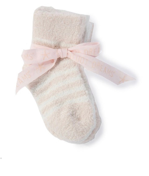 Barefoot Dreams 3-pack Cozy Chic Infant Socks-pink