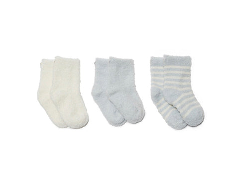 Barefoot Dreams 3-pack Cozy Chic Infant Socks-blue