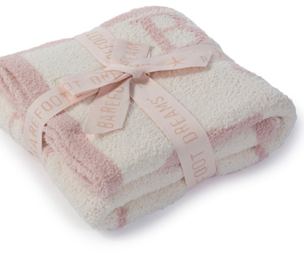 Barefoot Dreams ABC Blanket-dusty rose
