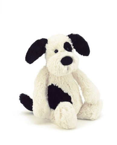 Jellycat Medium Bashful Black and White Puppy