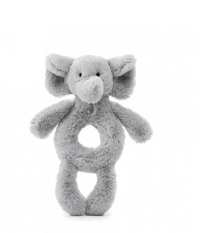 Jellycat Bashful Ring Rattle - Grey Elephant