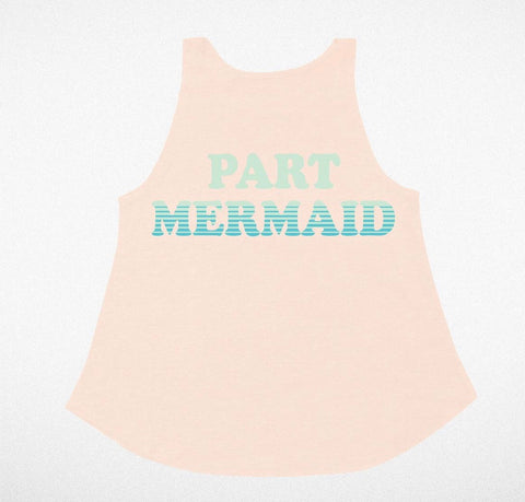 Tiny Whales Flowy Tank-part mermaid