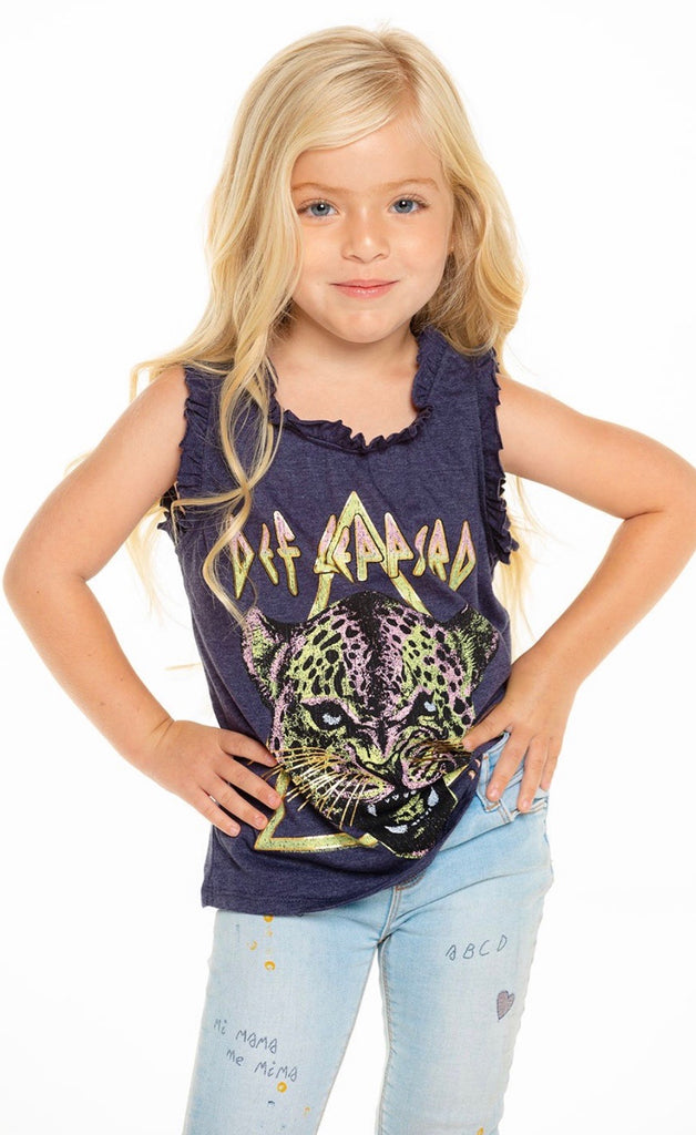 Chaser Kids Def Leppard Ruffle Racerback Tank