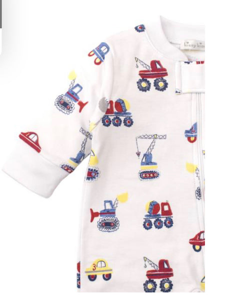 Kissy Kissy Footie with Zipper - Trucks