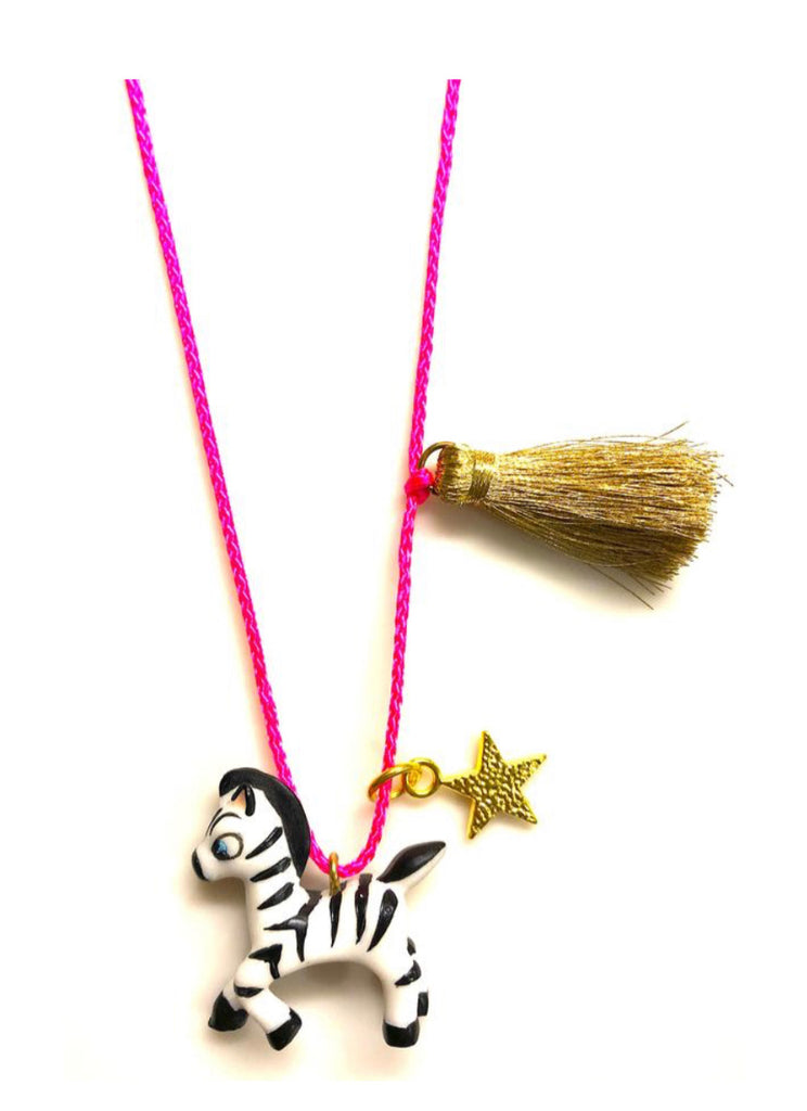 Gunner and Lux Necklace - Zebra