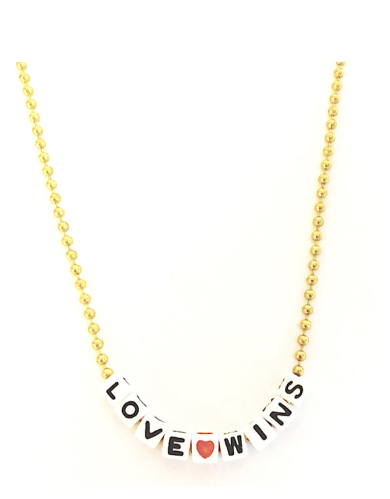 Gunner and Lux Letter Necklace - Love Wins