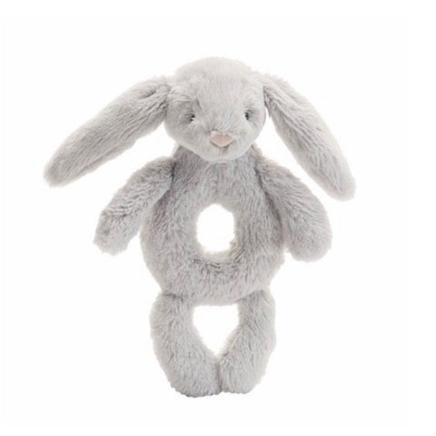 Jellycat Bashful Ring Rattle - Grey Bunny