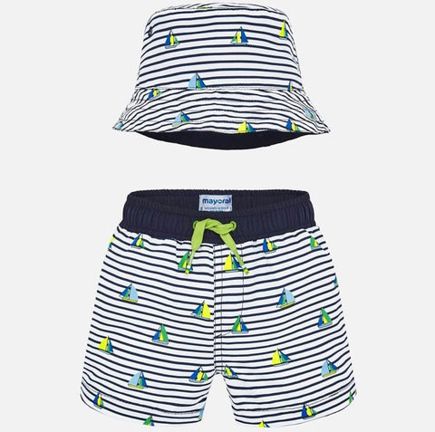 Mayoral Baby Swimming Trunks Set in Blue