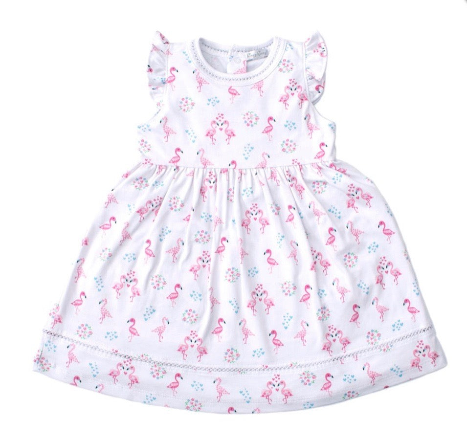 Kissy Kissy Flowering Flamingos Dress Toddler