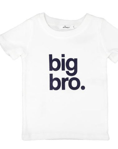 Oh Baby! Big Bro Rib Tee in Navy/Cream