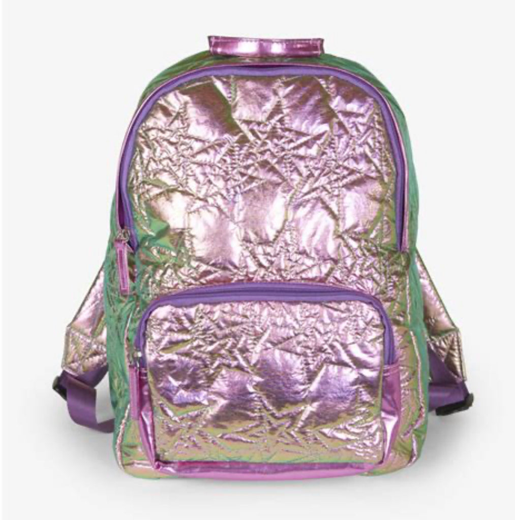 Hatley Quilted Backpack in hologram star
