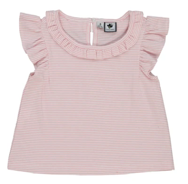 Busy Bees Colette Top in Light Pink Stripe