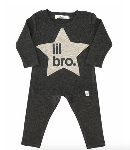 oh baby! 2-piece set Lil Bro - charcoal