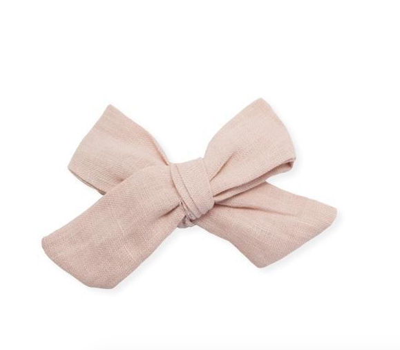 oh baby! Linen Clip Set-medium blush