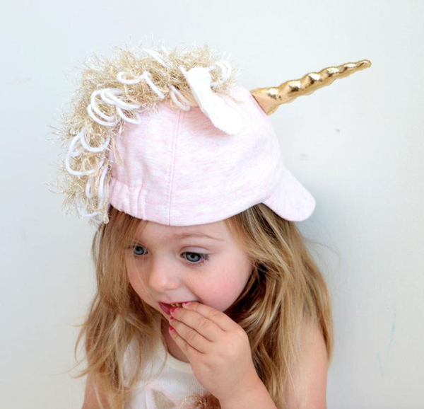 oh baby! Unicorn hat - pale pink heather