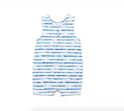 Egg New York Jeffrey Romper-blue stripe
